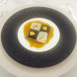 Damier de St-Jacques vapeur, pilaf de quinoa toasté